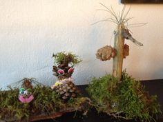 Små søde skovdyr lavet af mine børn