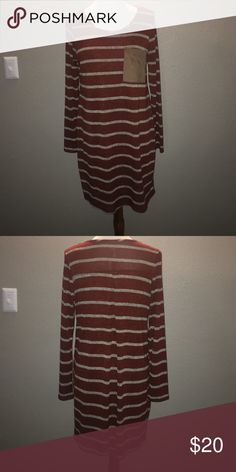 T-Shirt Dress Super cute tshirt dress- color is a rusty orange, NWT! Dresses Long Sleeve