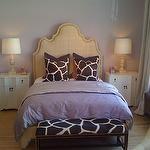 Suzie: Alice Lane Home - Chic teen girl's bedroom design with soft purple walls, tan Ingrid bed . Nailhead Headboard, Girls Room Design, Teen Bedroom Designs, Home Bedroom, Bedroom Decor, Dream Bedroom, Bedroom Ideas, Master Bedroom, Giraffes