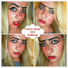 Comic book girl makeup! www.dollydowsie.com