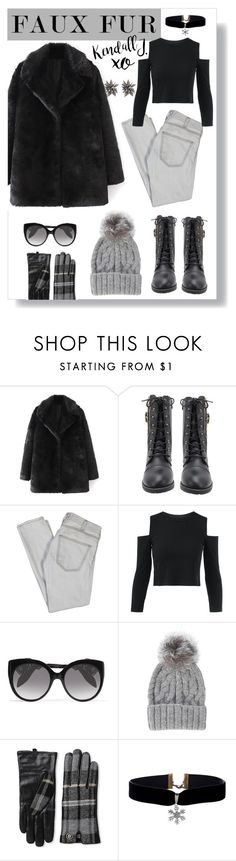 """""""K F"""" by eleanor-l-grayson ❤ liked on Polyvore featuring Current/Elliott, Alexander McQueen, Eugenia Kim, Tommy Hilfiger, xO Design and Alexis Bittar"""