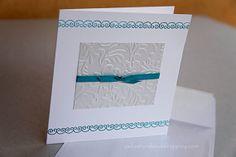 Greek style wedding invitation teal by YellowBirdWedding on Etsy