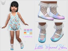The Sims 4 Little Mermaid Shoes For Toddlers The Sims 4 Kids, Toddler Cc Sims 4, The Sims 4 Bebes, Sims 4 Toddler Clothes, Sims 4 Cc Kids Clothing, Sims 4 Children, Sims 4 Teen, Sims 4 Mods Clothes, Sims Cc