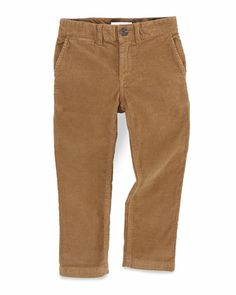 Boys\' Corduroy Trousers, Brown, Sizes 4Y-10Y by Burberry at Neiman Marcus.
