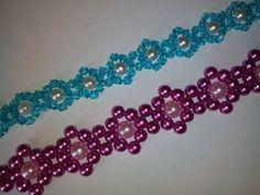 Лёгкий браслет из бусин. МК. DIY. Tutorial: beaded bracelet - YouTube