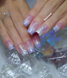 Acrylic Nails, Gel Nails, Nail Designer, Blue Nail Designs, Baby Blue Colour, Stylish Nails, Blue Nails, French Nails, Nail Inspo