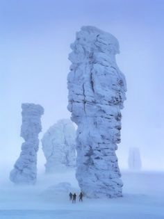 "rorschachx: "" The Manpupuner rock formations or the Seven Strong Men Rock Formations are a set of 7 gigantic abnormally shaped stone pillars located north of the Ural mountains in the..."