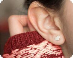 Sterling Silver Sweetheart Earrings