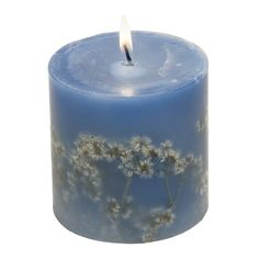 $18 Dried Flower Pillar Candle. This candle was handmade by women of La Luciérnaga, a candle-making group in Tegucigalpa, Honduras.