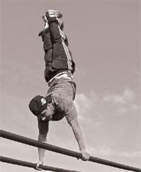 What it takes to be a bar athlete.http://mymadmethods.com/articles/mobility-articles/1198-bar-athletics-calithenics-with-raed-barance
