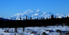 Denali (Mount McKinley) basks in sun on a winter day, in this photo by Robert Shem.
