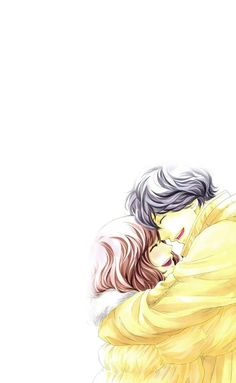 Kou and Futaba - Ao Haru Ride Anime Ao Haru Ride, Ride Drawing, Futaba Y Kou, Blue Springs Ride, The Moon Is Beautiful, Japanese Drama, Miraculous, Cute Anime Couples, Anime Art Girl
