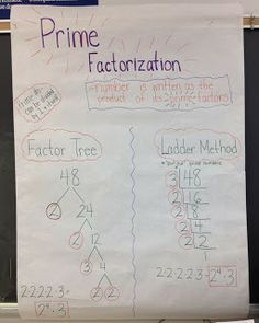Prime Factorization and GCF blog post. Hmm might need to try the ladder method next year.