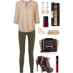 A fashion look from March 2015 featuring Vero Moda blouses, AG Adriano Goldschmied jeans and Diane Von Furstenberg shoulder bags. Browse and shop related looks. Adriano Goldschmied Jeans, Diane Von Furstenberg, Shoulder Bags, March, Fashion Looks, Blouses, Shoe Bag, Chic, Brown