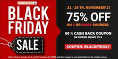 BLACK FRIDAY SALE : Learn 3 SAP Courses @ 75 % OFF with 50 % CASH BACK ( 21 - 25th, NOV'17 ).- (Bangalore)