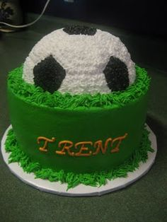 I could make this with the soccer ball in vanilla cake and the base in chocolate ... would work for everyone on the team!!  :)