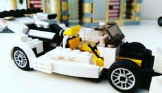 Lego v8 supercharged racecar custombuilt by Timberdale Creations