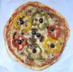 Da Panela para o Coração : Pizza de cogumelos frescos e pimentos