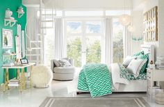Beautiful Pottery Barn Teen Girls Rooms Teens Room Pottery Barn within green Teens Room with regard to Property