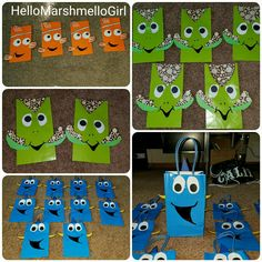 Finding Nemo Finding Dory Party Bags DIY Treats Squirt Party Favors Children's treat bag ideas Kid's Birthday ideas