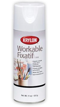 Workable Fixatif clear finish prevents smudging of soft art materials like pencil and pastel.