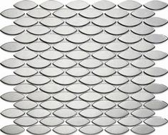 The Snakeskin Effect! Stainless Matt Ovals Mosaic - Metal Tile Free Shipping
