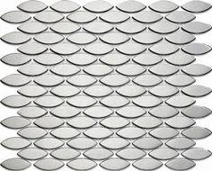 The Snakeskin Effect! Stainless Matt Ovals Mosaic - Metal Tile Free Shipping