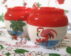 Vintage Florida salt and pepper shakers tiny by 3floridagirls