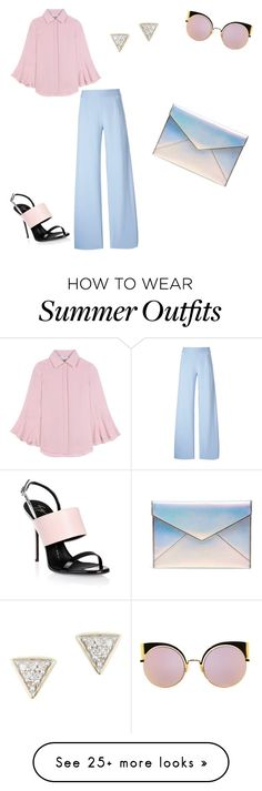 """Fresh Summer outfit"" by milenacignoni on Polyvore featuring Valentino, Christopher Kane, Fendi, Adina Reyter, Giuseppe Zanotti and Rebecca Minkoff"