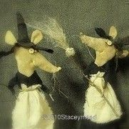 Bibbity,Bobbity and Boo, Primitive Halloween Mice Pattern from Ravens Haven via Etsy © Raven's Haven, Stacey Mead
