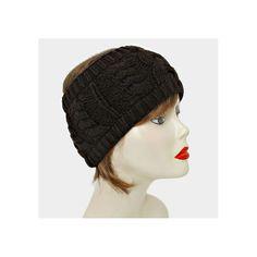Dark Brown Cable Knit Earmuff Headband