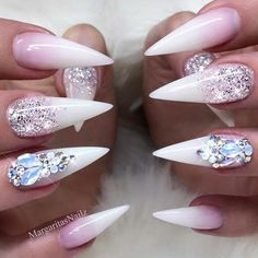 Gorgeous Stiletto Nils Designs With Ombre ❤️21 Fab and Stylish Nude Stiletto Nails to Be in Trends ❤️ See more: https://naildesignsjournal.com/nude-stiletto-nails-trends/ #naildesignsjournal #nails #nailart #naildesigns