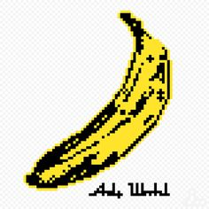 banana(andy warhol)  - pixel art -