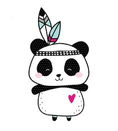 Embroidery file Boho Panda Indians - Finally there is it! The cool Boho Panda as an embroidery file. The Boho Indian is included as a do - Tier Wallpaper, Animal Wallpaper, Panda Love, Cute Panda, Panda Wallpapers, Cute Wallpapers, Animal Drawings, Cute Drawings, Scrapbooking Image