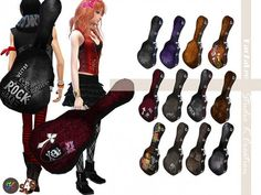 Studio K Creation: Guitar case (renew) • Sims 4 Downloads