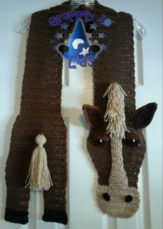 Horsin' Around Scarf Pattern By Joanne Grimm Thompson
