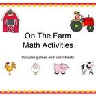 $ On the Farm Math Activities Packet is aligned to first grade common core standards and includes activities to practice a variety of skills.   Thi...