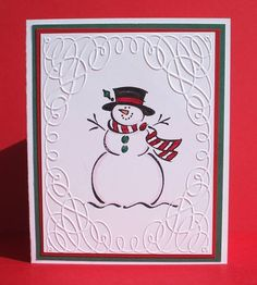 Frosty the Snowman; I sure miss this guy...one of the first stamps I owned when I became a Stampin' Up! demonstrator