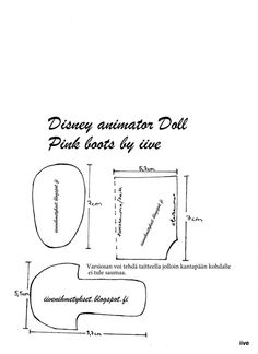 iiven ihmetykset: Disney Animator Doll - Pink boots