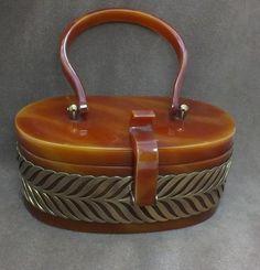 Vintage bakelite/lucite purse