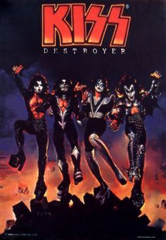 "Kiss,1 of the greatest rock acts of the 70's,puts on a spectacular show.It's what they are known best for.In 76,album Destroyer came in hot pursuit of the success of the live album,Alive!,w/hit singles""Detroit Rock City,Shout it Out Loud,God of Thunder,Beth,Do You Love Me & King of the Nighttime World.""Cover art was created by artist Ken Kelly,who created cover for""Love Gun.""Cover feats Kiss standing on top of a pile of rubble w/burning buildings in background.Most well known image of band!"