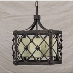 pendant-lighting-hanging-Hand-Forged Wrought Iron