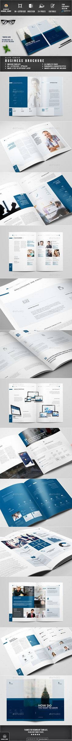InDesign Brochure  Template • Only available here ➝ http://graphicriver.net/item/brochure/16617333?ref=pxcr