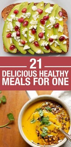21 Easy And Healthy Meals For One Not all veggie but I can make them that way