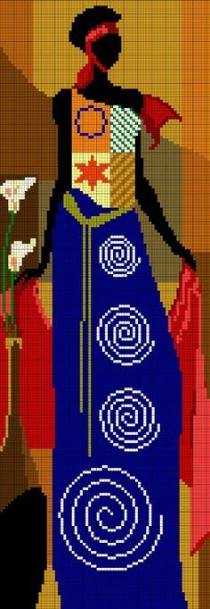 El taller de Ire: Patrones punto de cruz: Africana (2)