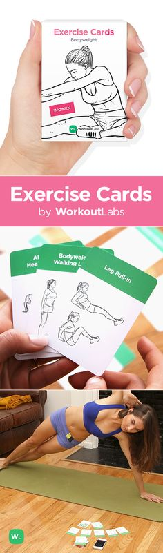 Exercise Cards by WorkoutLabs – a fun way to work out anywhere anytime without equipment! Visit http://Workoutlabs.com/exercise-cards to order yours!