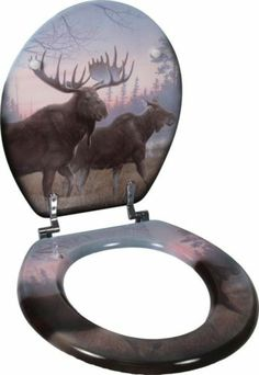 Moose Toilet Seat Bathroom Decor Cabin Lodge Ranch Hunting New re CABT2 | eBay