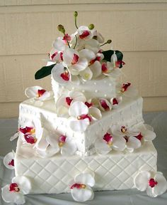 Square Wedding Cake Designs Pictures
