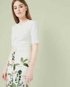 Secret Trellis shift dress - Cream | Dresses | Ted Baker