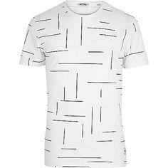 Black Only & Sons line print t-shirt - print t-shirts - t-shirts / vests - men